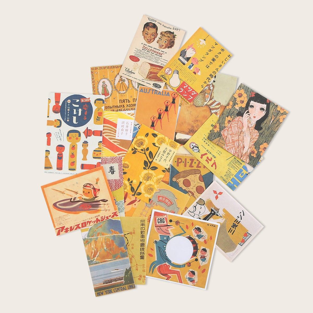 20pcs Japanese Character Print Sticker