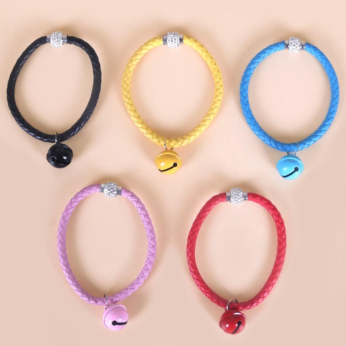 1 Stück zufällige Farbe Haustier Halskette mit Glocken