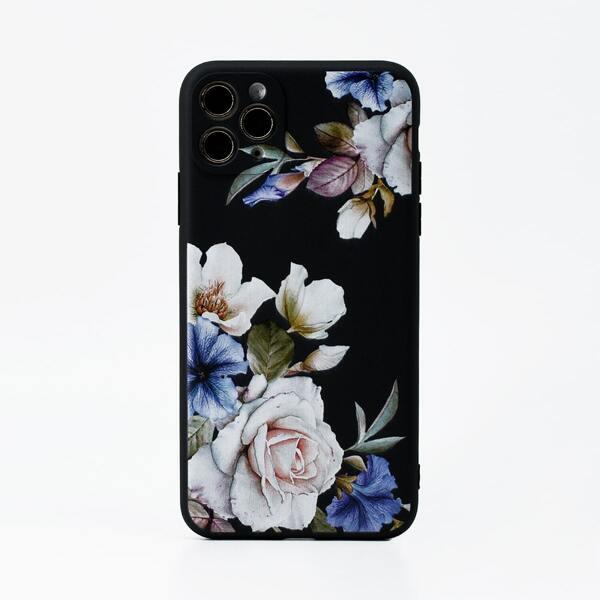 Flower Pattern Phone Case, Multicolor