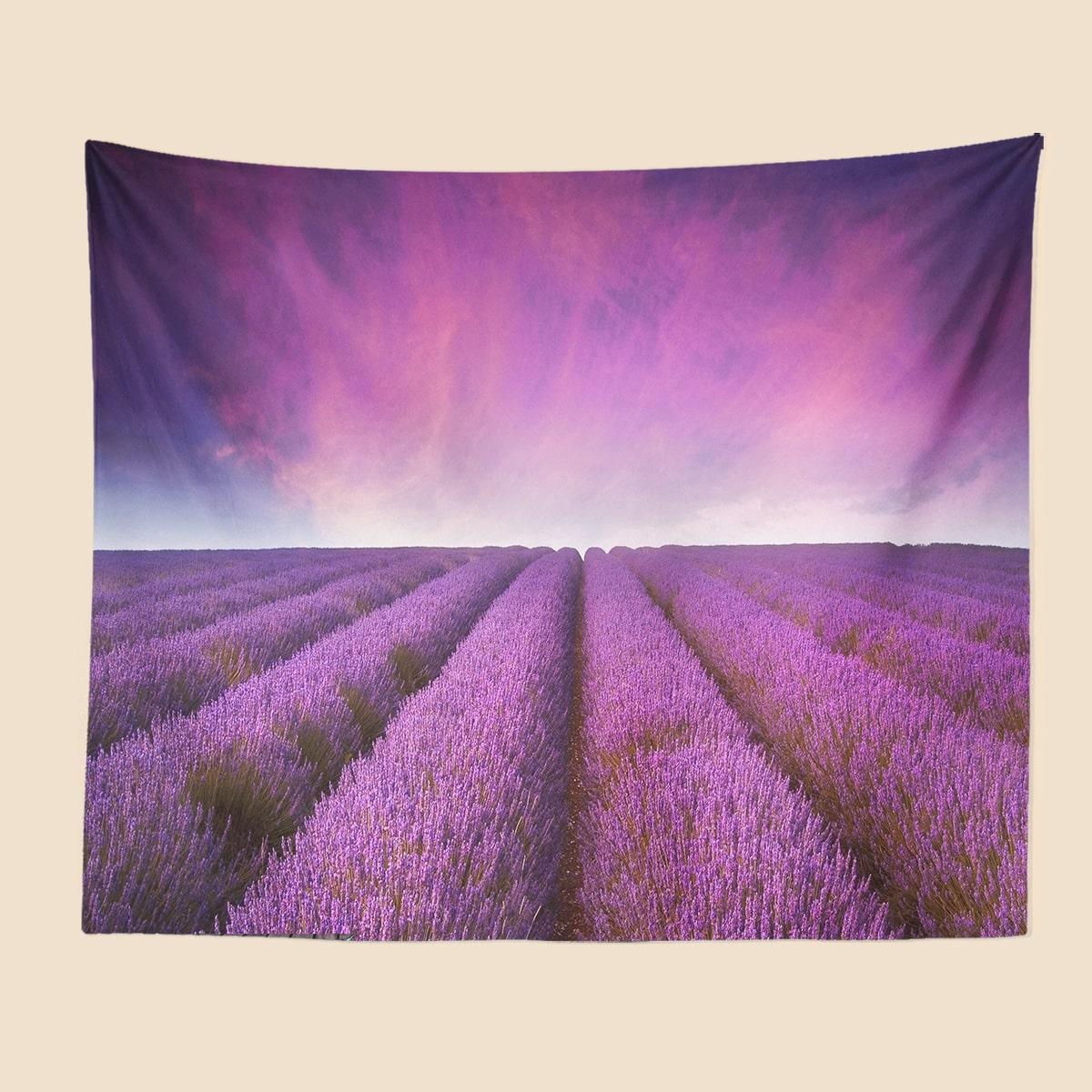 Teppich mit Lavendel Muster