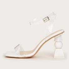 Clear High Heeled Sandals