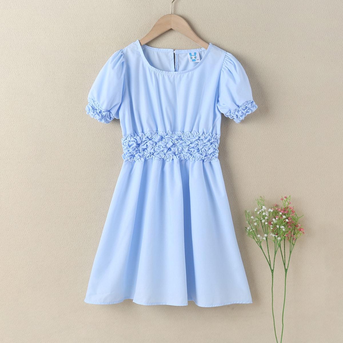 Однотонное платье для девочек по цене 1 010