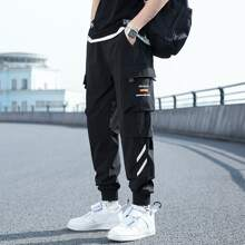Guys Letter Graphic Cargo Pants