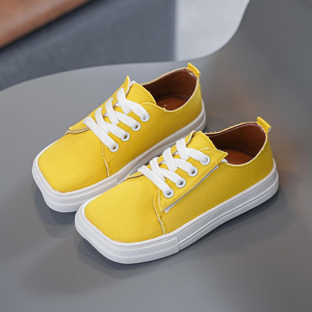 Квадратные холщовые туфли для мальчиков от SHEIN