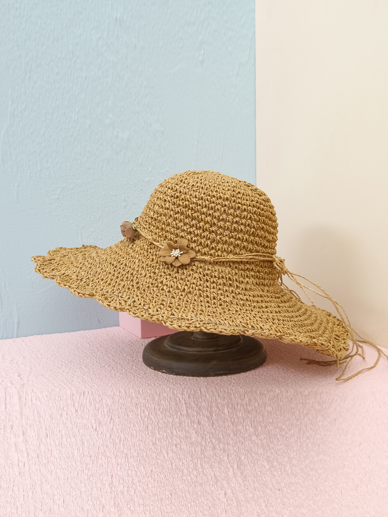 Flower Decor Straw Hat