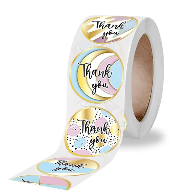 500pcs Slogan Graphic Sealing Sticker, Multicolor