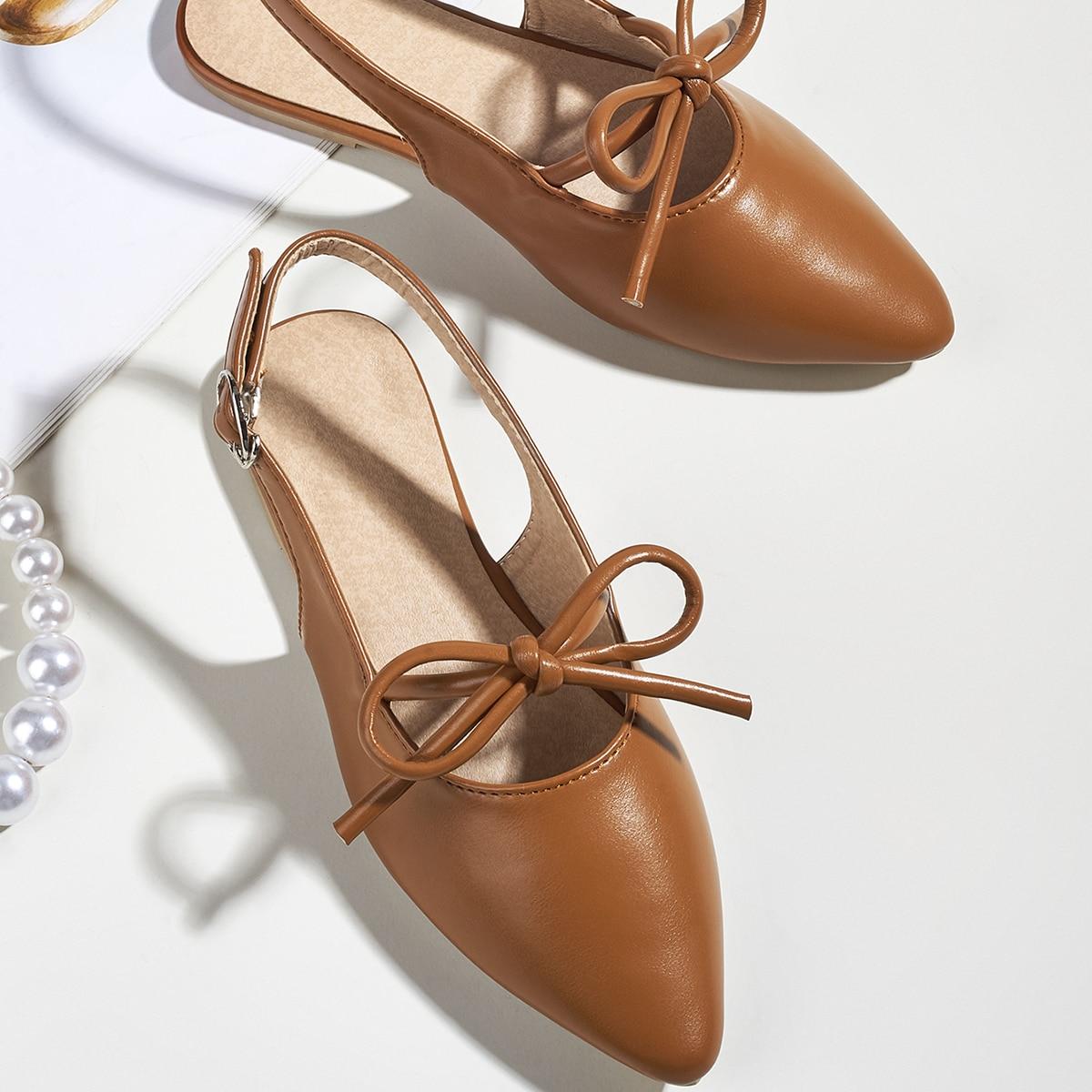 Туфли-лодочки с бантом для девочек от SHEIN