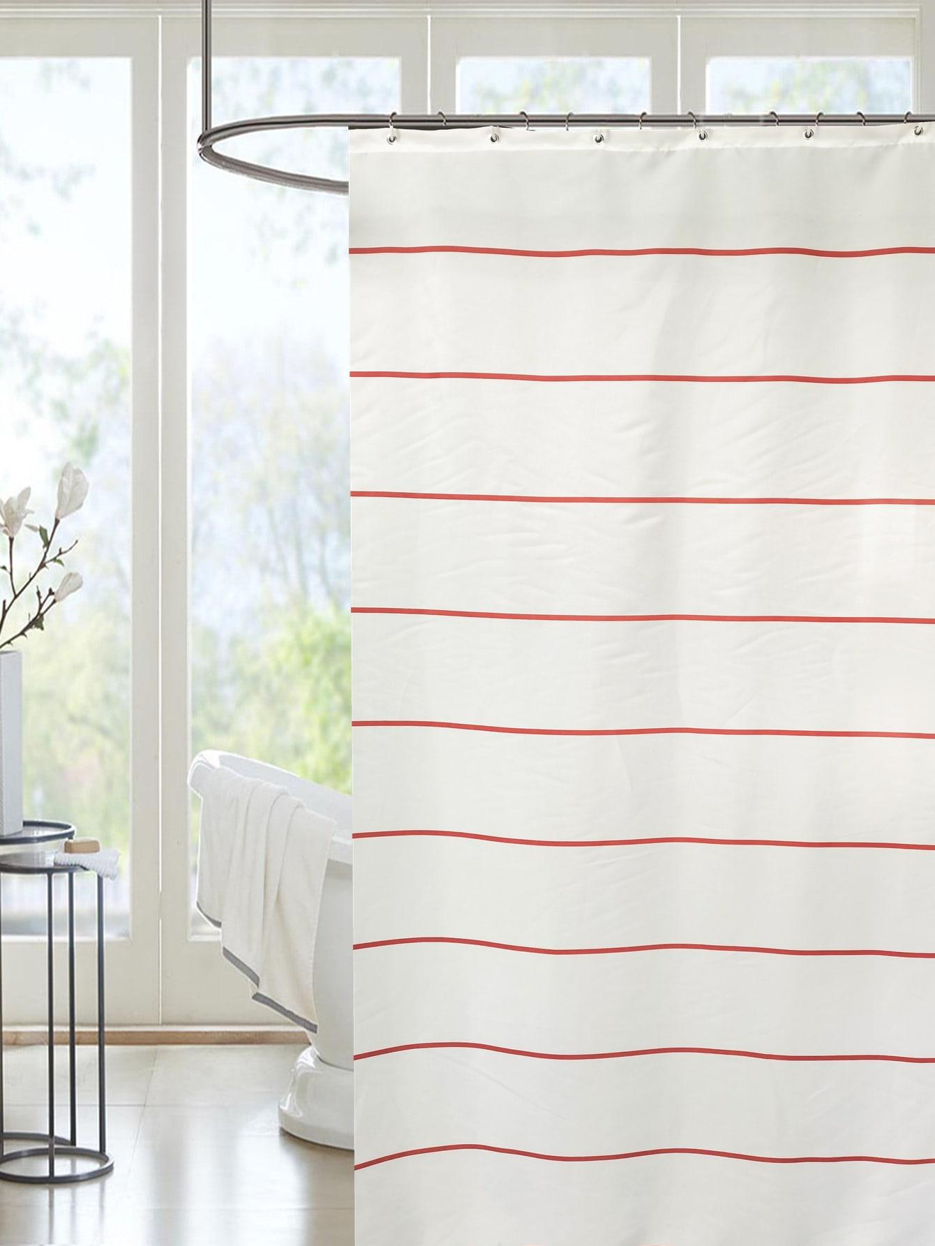 Striped Pattern Shower Curtain