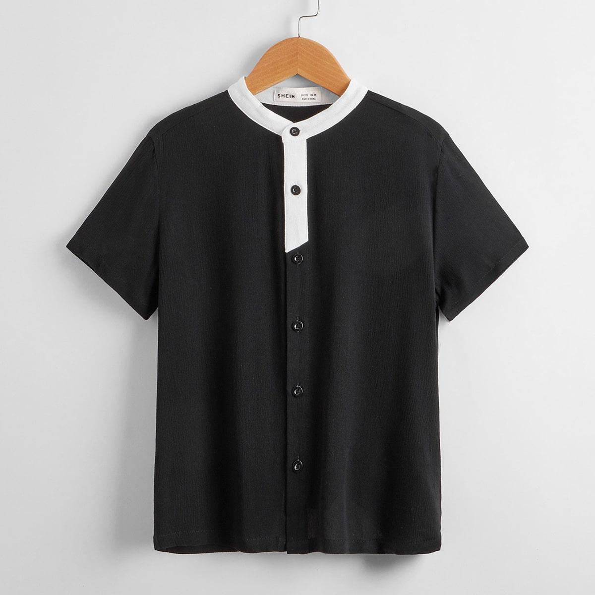 Рубашка с пуговицами для мальчиков