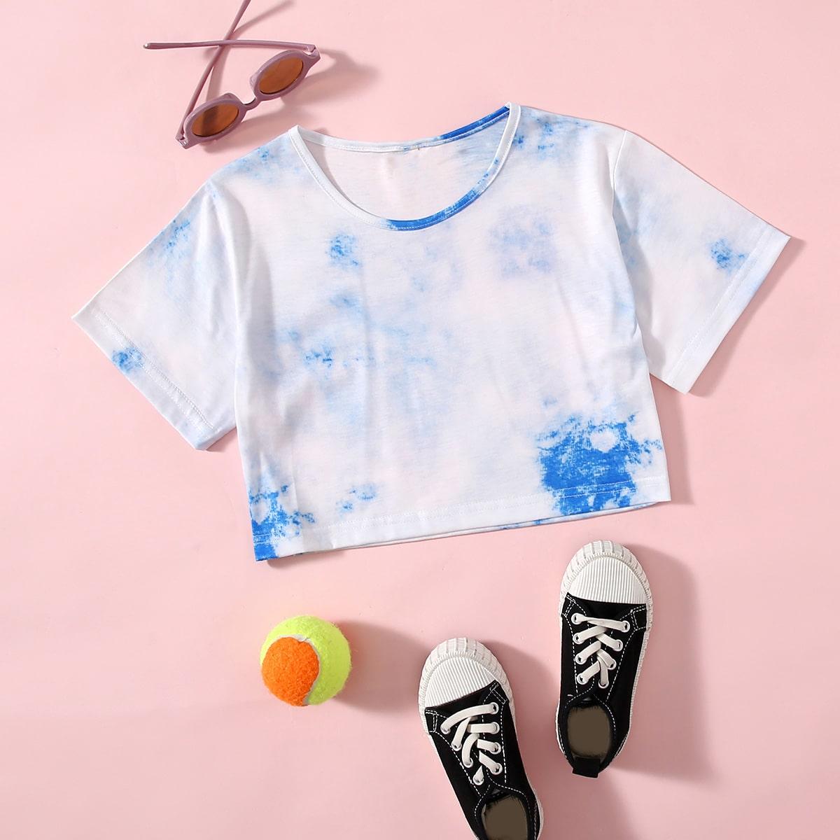 Camiseta de tie dye