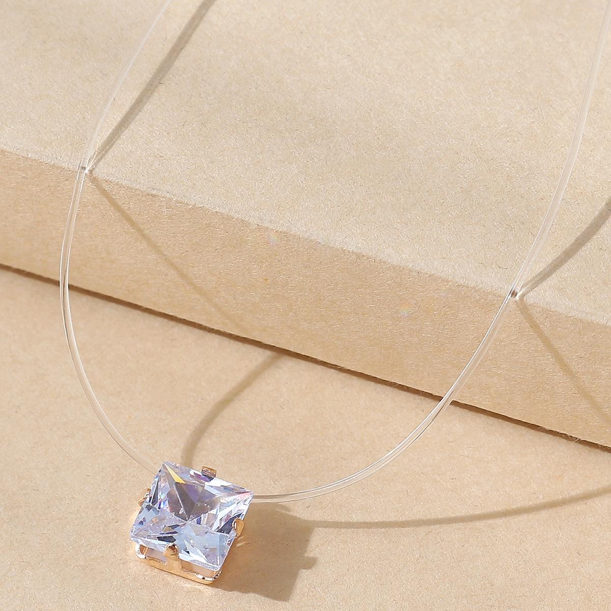 Halskette mit Geometrie Strass Dekor