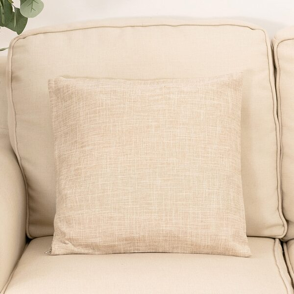 Plain Cushion Cover Without Filler, Beige
