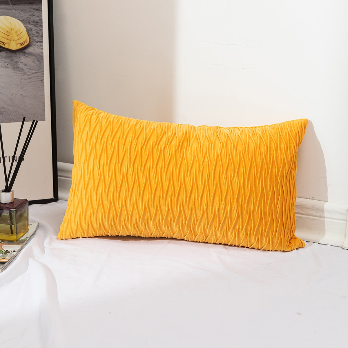 Solid Color Lumbar Pillowcase Without Filler