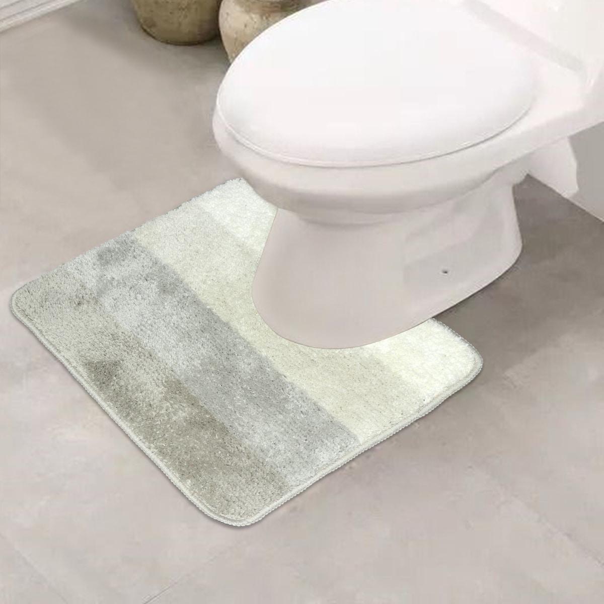 Toilettenmatte mit Streifen Muster