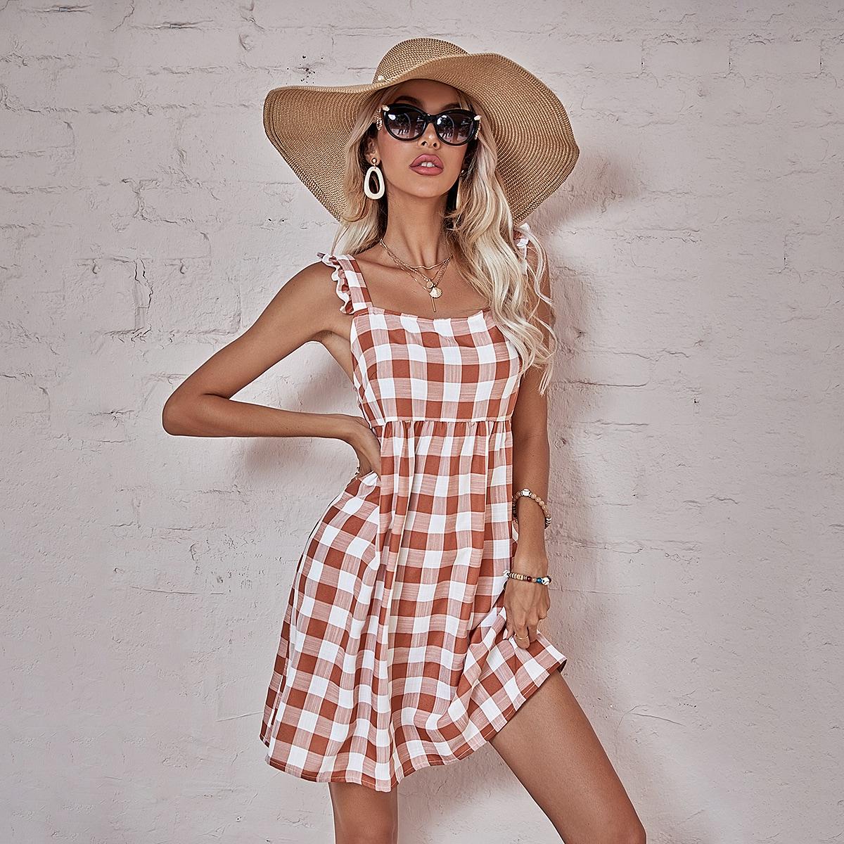 Платье в клетку SheIn swdress23210312934