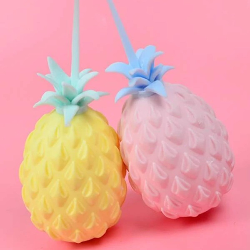 1pc Random Pineapple Stress Relief Squeeze Toy, Multicolor