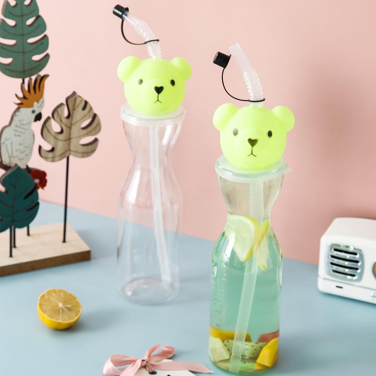 1pc Bear Design Straw Cup