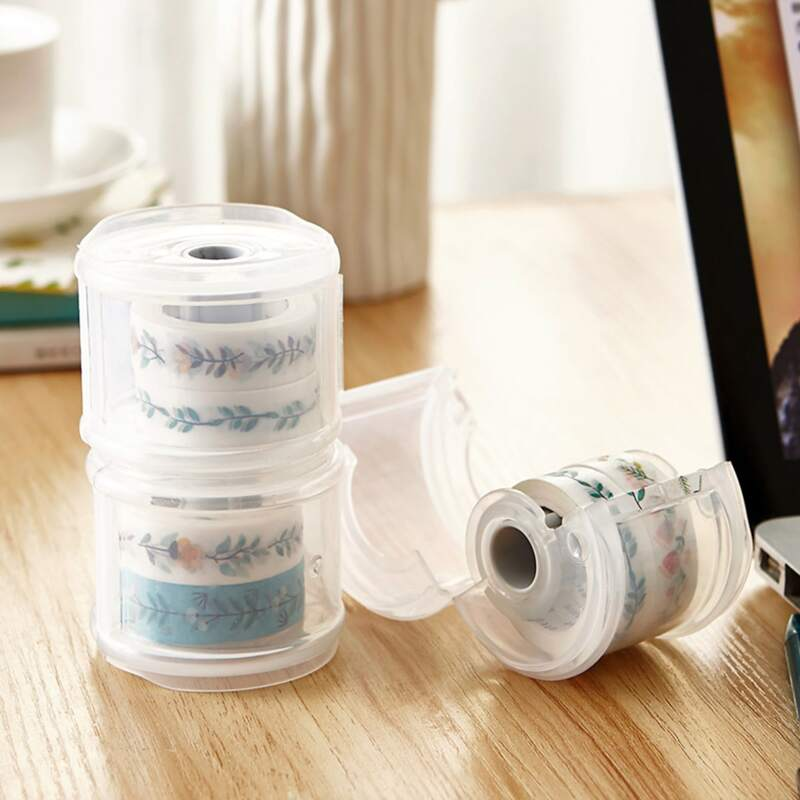 1pc Clear Tape Dispenser