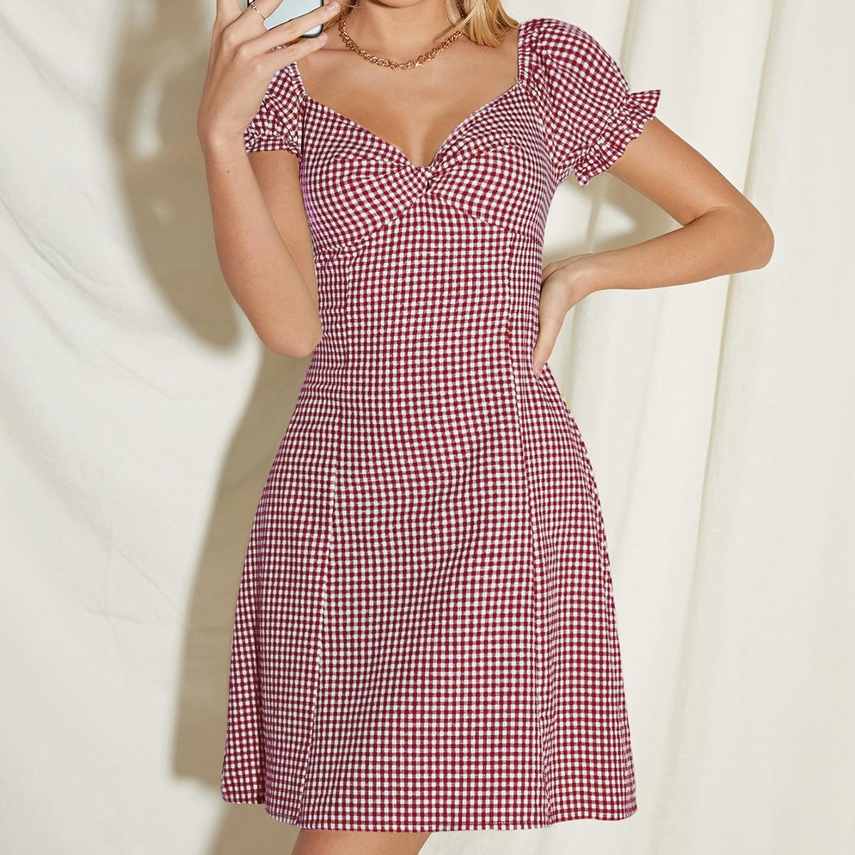 Платье в клетку SheIn swdress04210305516