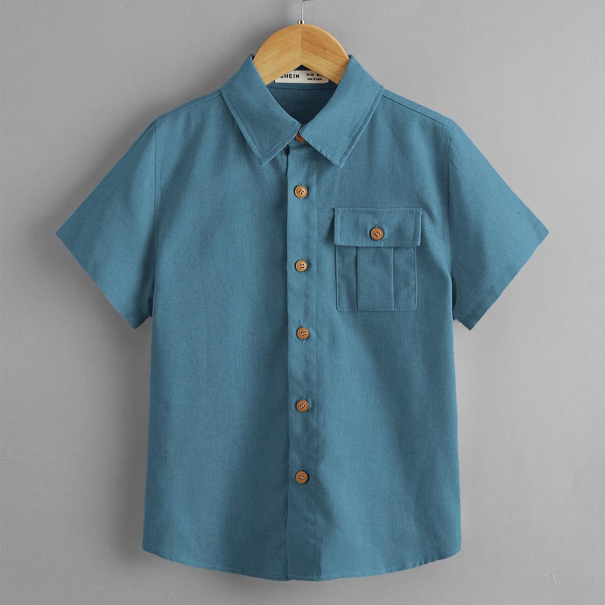 Рубашка с карманом для мальчиков