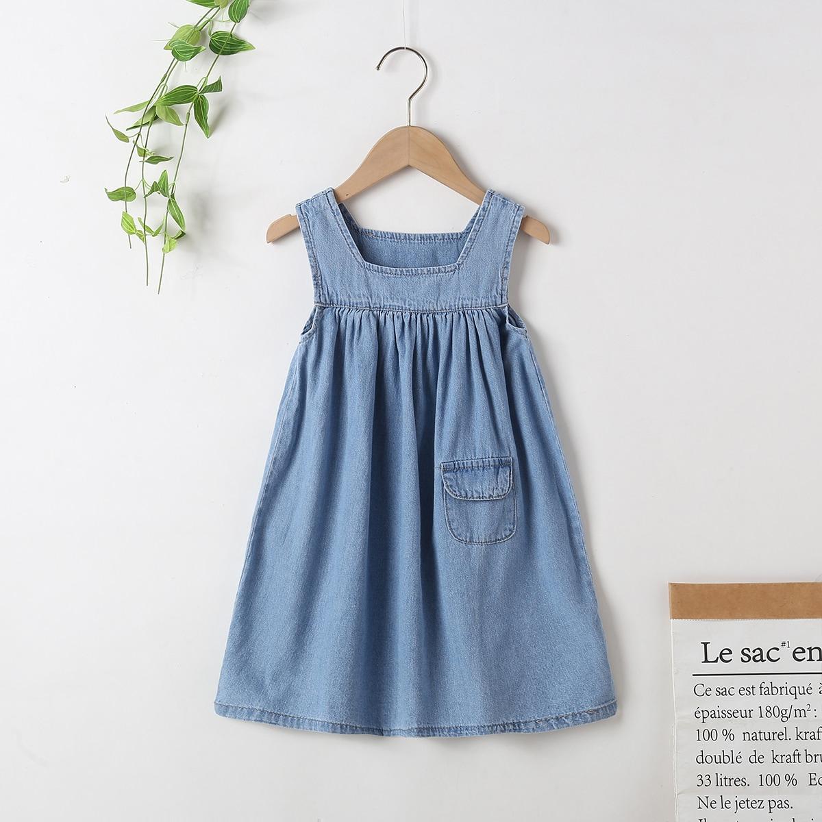 для девочек Джинсовое платье с карманом SheIn skdress25210414276