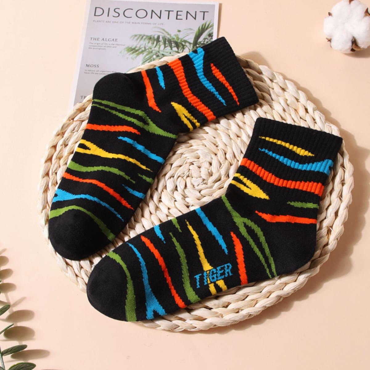 Chaussettes avec motif tigre