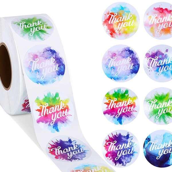 1roll Slogan Graphic Sticker Tape, Multicolor