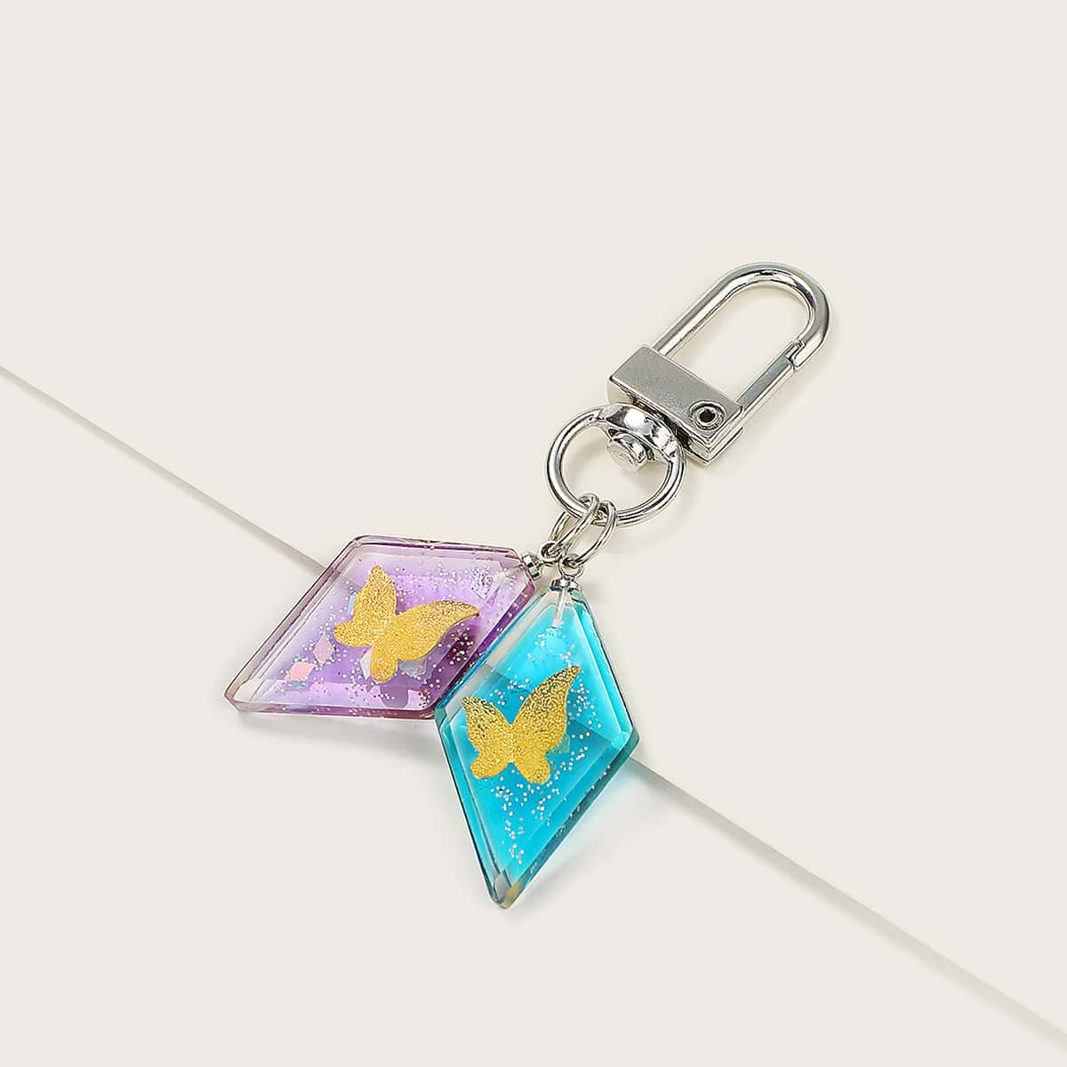 Butterfly Embedded Bag Charm
