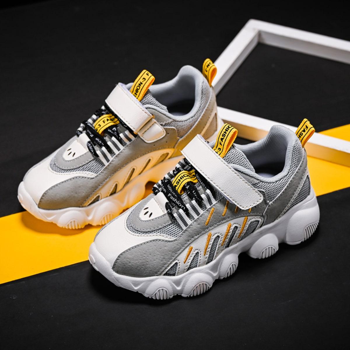 Контрастные кроссовки для мальчиков на липучке для мальчиков от SHEIN