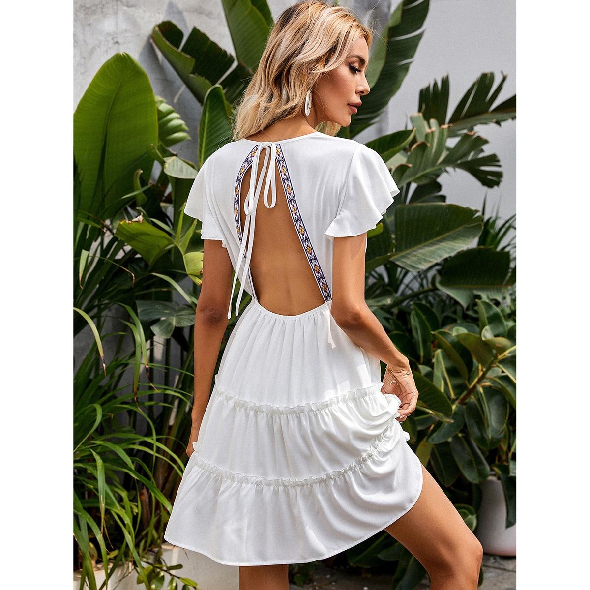 Платье с вырезом на спине SheIn swdress44210415295