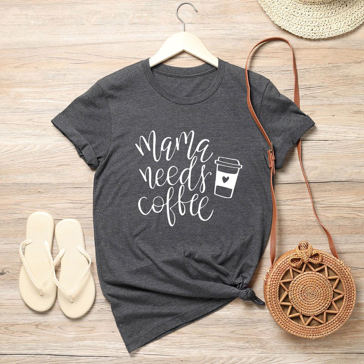 Camiseta con estampado de slogan y taza