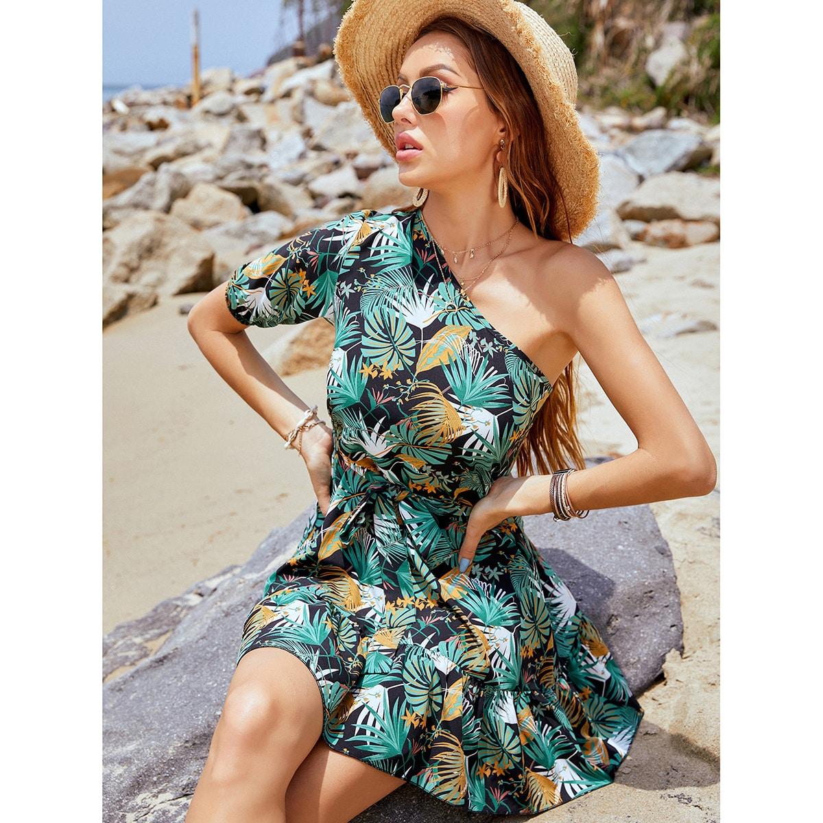 Vestido Cinta Tropical Bohemio