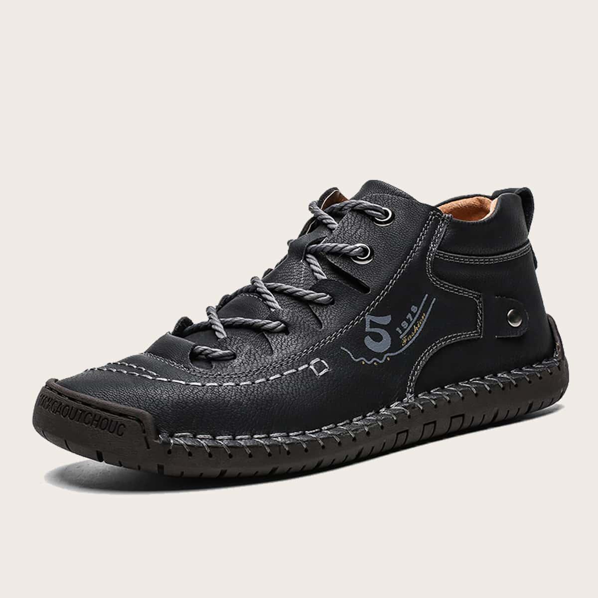 حذاء برباط أمامي مزين بالخرز للرجال