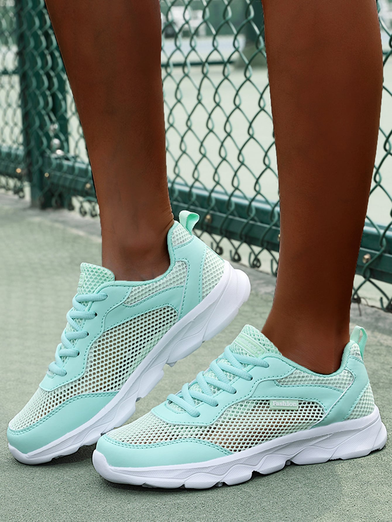 Lace-Up Front Mesh Running Shoes