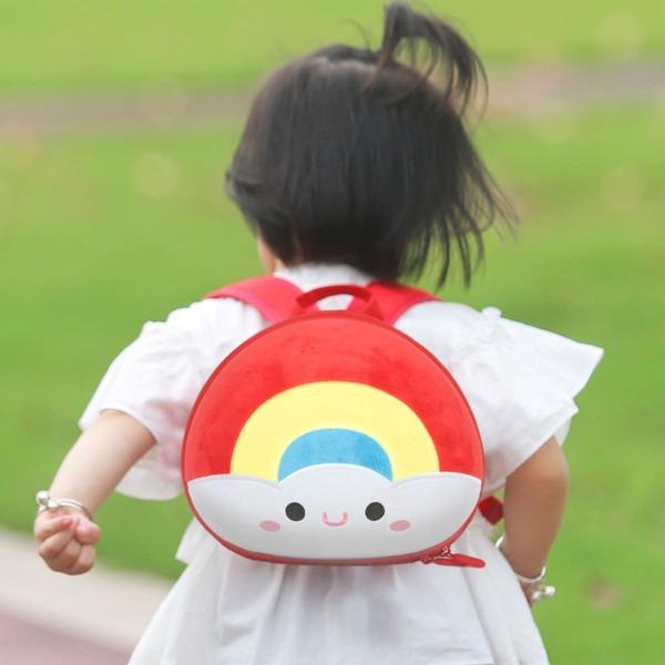 Kids Cartoon Design Backpack, Red