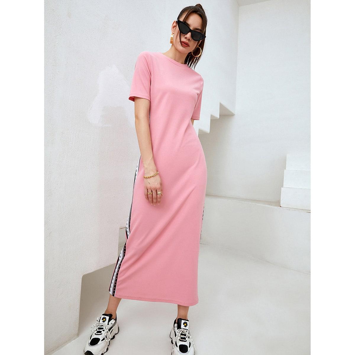 Полосатый Спортивный Платье SheIn swdress44210324225