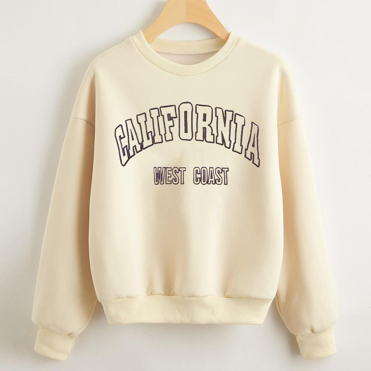 Термальный пуловер с текстовым принтом
