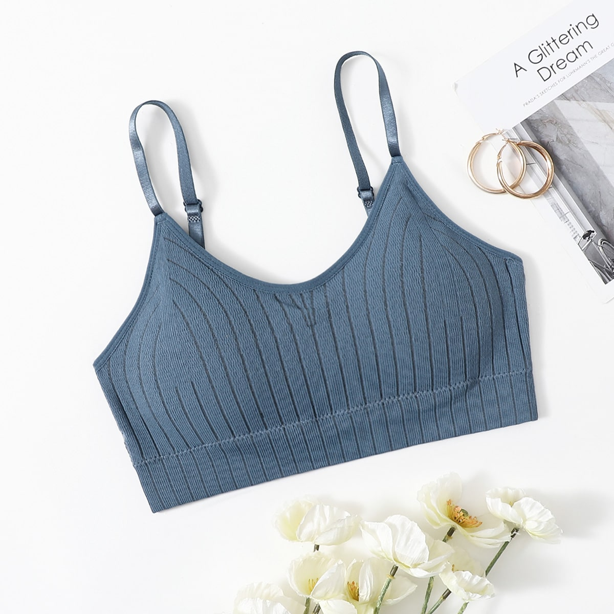 Solid Ribbed Bralette