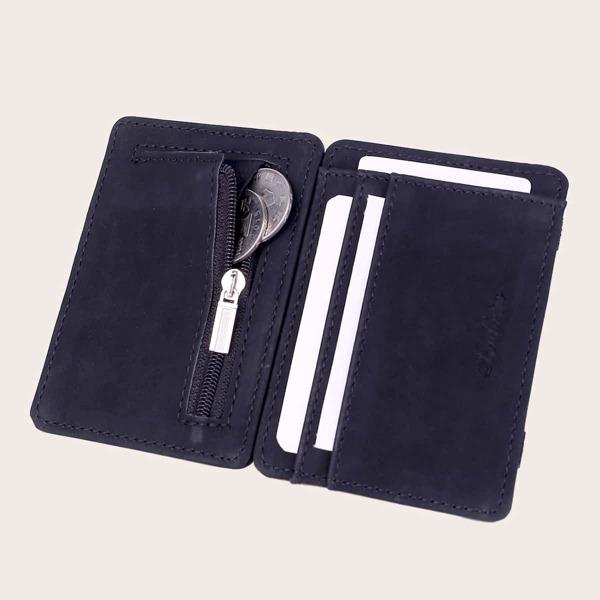 Men Detachable Wallet, Black