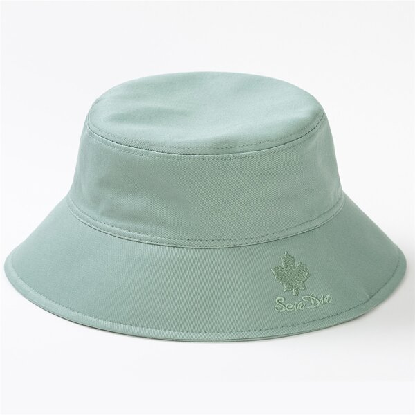 Letter Embroidery Bucket Hat, Green