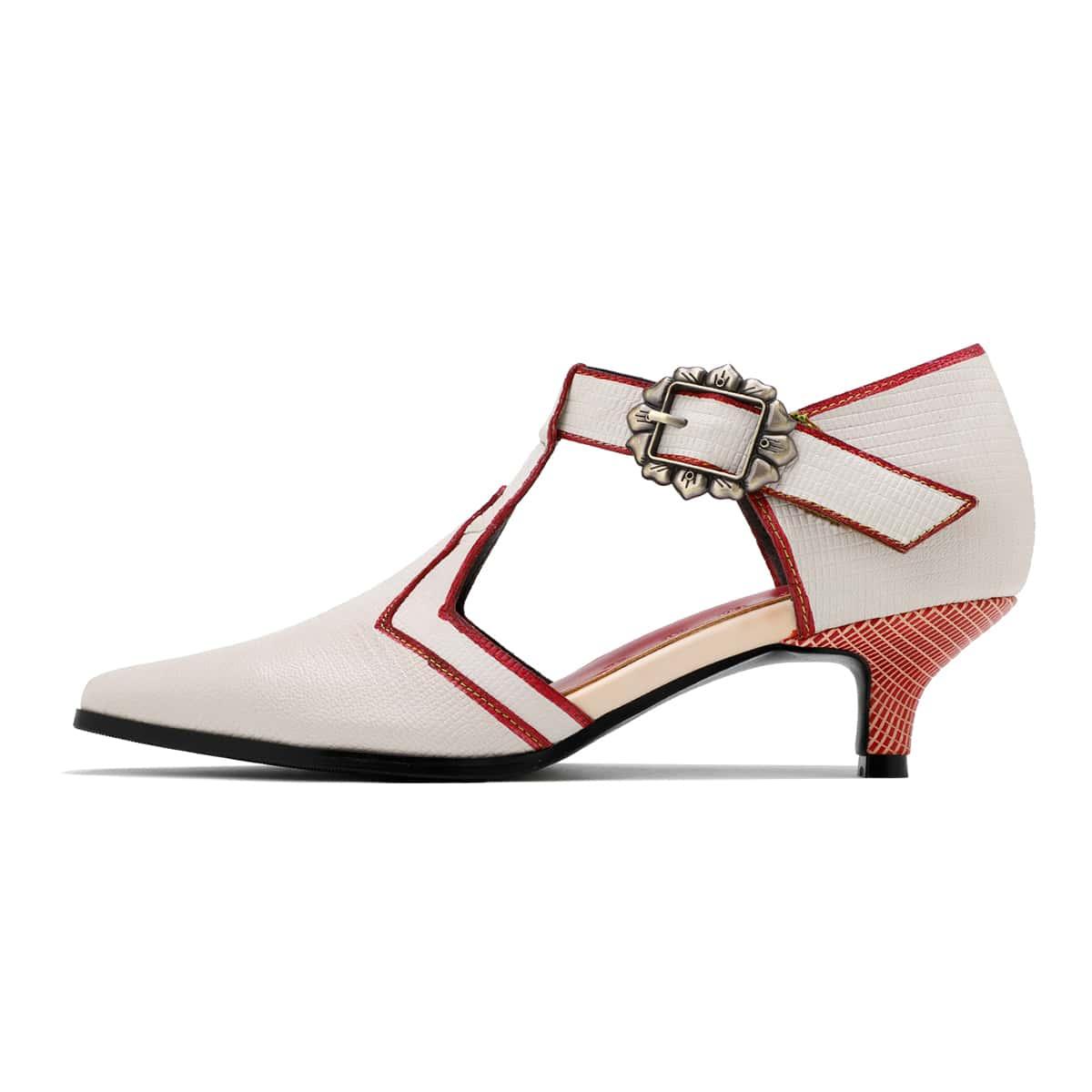 Кожаные туфли-лодочки с пряжкой от SHEIN