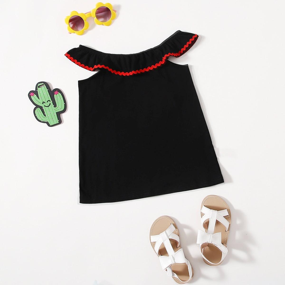 для девочек Платье-футболка заплатка от SHEIN