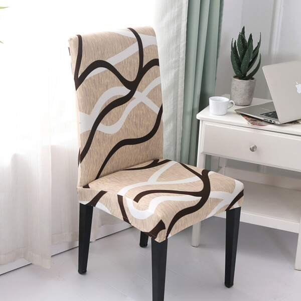 Graphic Print Stretchy Chair Slipcover, Multicolor