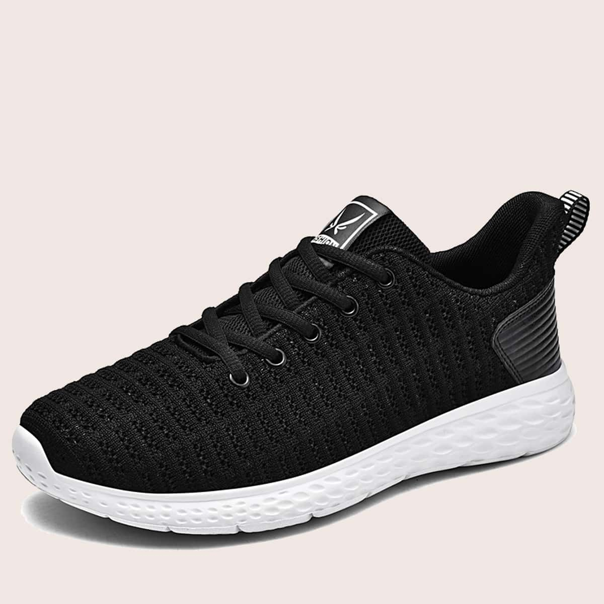 Men Minimalist Lace Up Front Sneakers