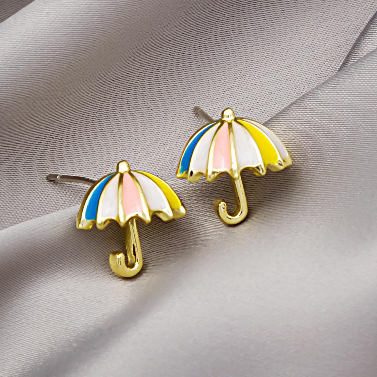 Серьги-гвоздики в форме зонта от SHEIN