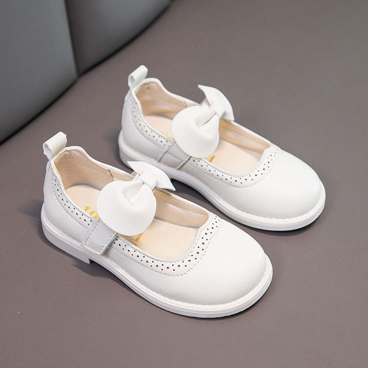 Zapatos planos para niños pequeños Lazo Liso