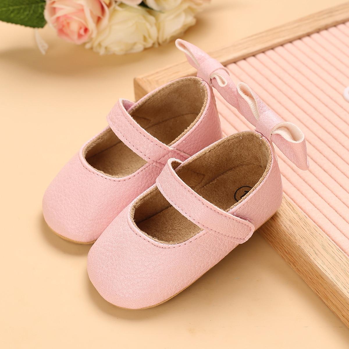 Zapatos planos para bebé Lazo Liso mary Jane