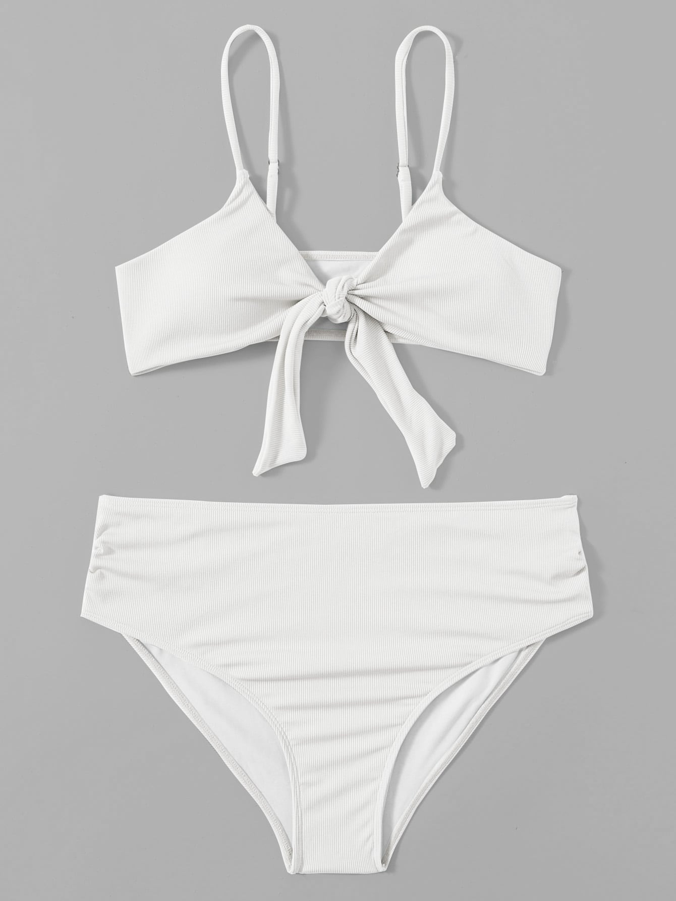 Maternity Knot Front High Waisted Bikini Swimsuit