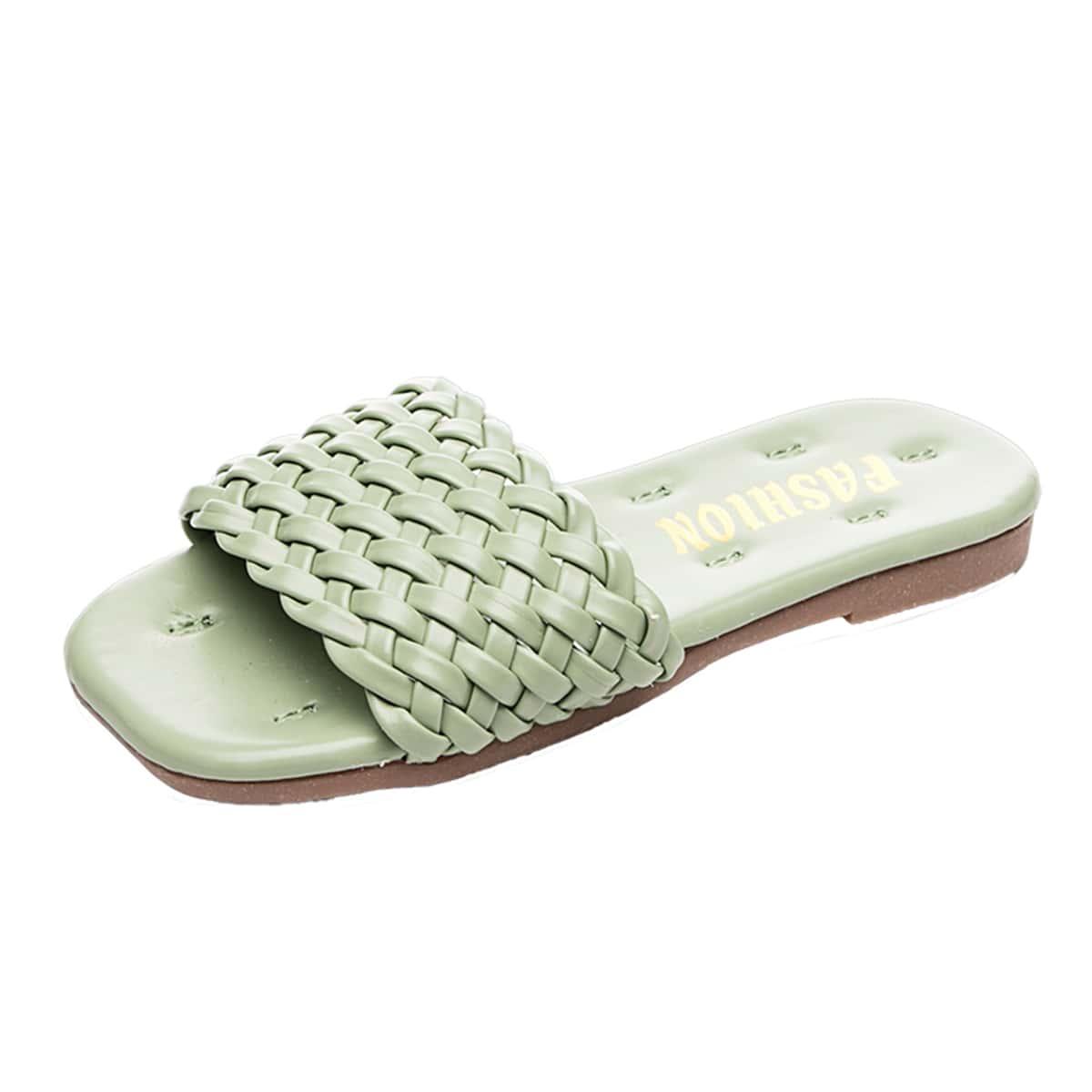 Girls Braided Slippers