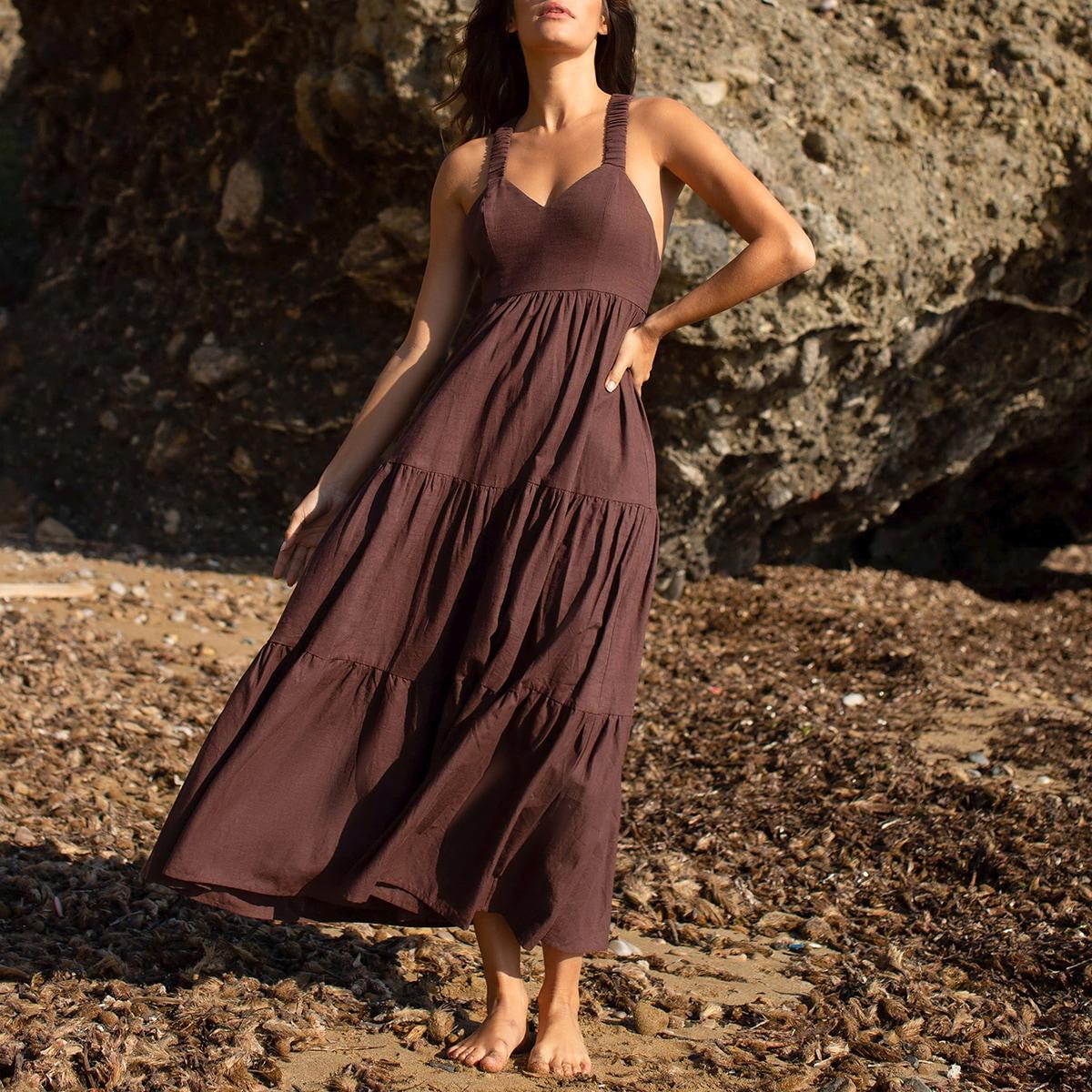 Платье с вырезом на спине SheIn swdress07210309075